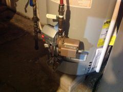 Taco pump plumbed into water heater